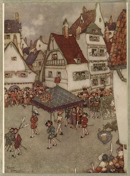 Edmund_Dulac_-_The_Emperors_New_Clothes_-_procession